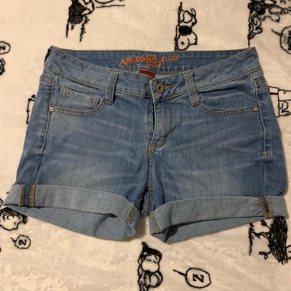 Arizona Jean Company Pants - Light Wash Cuffed Denim Shorts